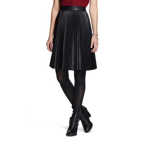 pleated pleather skirt xhilaration target