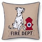 Sheringham Road Nathan Fire Department Pillow - Red