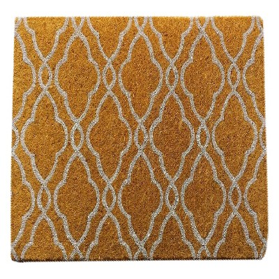 White Lattice Coir Doormat - Smith & Hawken™