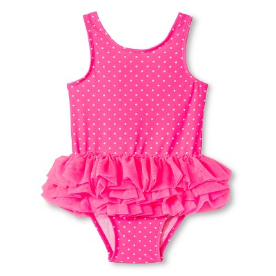 Baby Girls' 1-Piece Polka Dot Tutu Swimsuit Pink 9M - Circo™