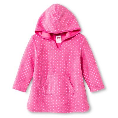 Baby Girls' Hooded Polka Dot Swim Cover Up Pink 9M - Circo™