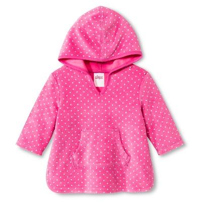 Baby Girls' Hooded Polka Dot Swim Cover Up Pink 12M - Circo™