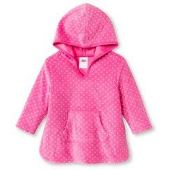Toddler Girls' Hooded Polka Dot Swim Cover Up Pink - Circo™