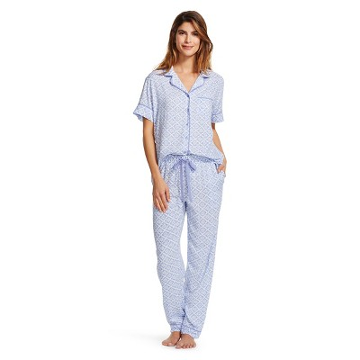Women's Sleepwear Challis Printed Pajama Set Blue Print S - Gilligan & O'Malley™
