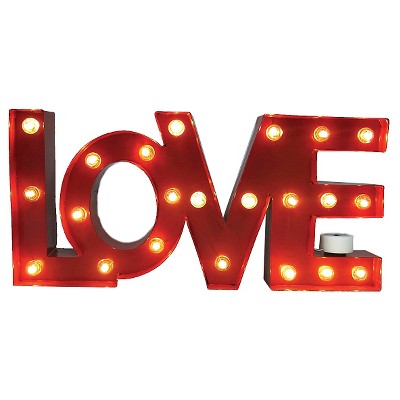 "Red ""Love"" Marquee Light - Threshold™"