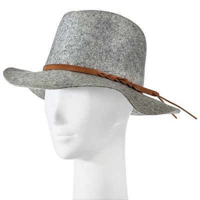 Women's Felight Fedora Hat Gray - Merona™