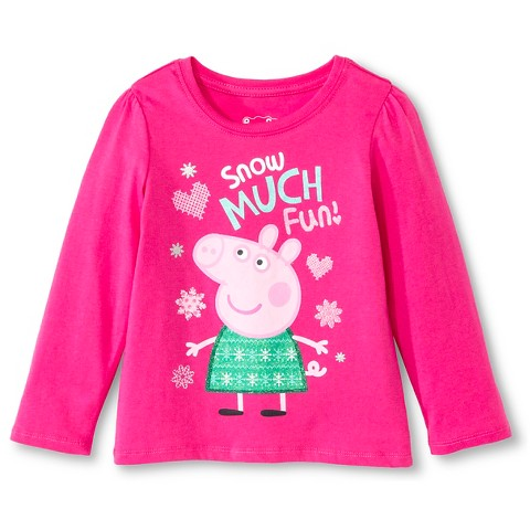 Toddler Girls' Peppa T-Shirt - Pink