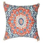 Threshold™ Outdoor Pillow - Coral & Blue Batik