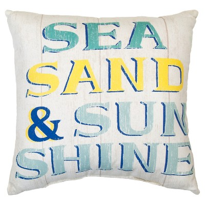 Outdoor Pillow - Sea Sand Sunshine - Threshold™