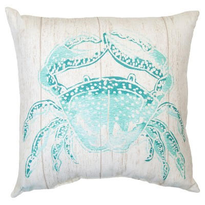 Outdoor Pillow - Turquoise Crab - Threshold™