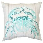 Threshold™ Outdoor Pillow - Turquoise Crab