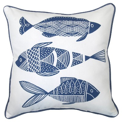 Outdoor Pillow - Blue Fish - Threshold™