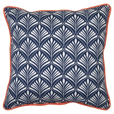 Outdoor Pillow - Navy Frond - Threshold™