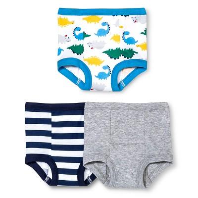 Gerber® Toddler Boys' Dinosaur 3-Pack Training Pant - Blue 3T