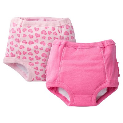 Gerber® Toddler Girls' 2-Pack Training Pant - Pink 2T-3T