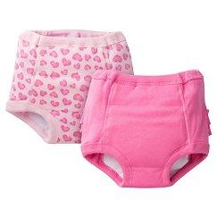 Gerber® Toddler Girls' 2-Pack Training Pant - Pink 2T-3T