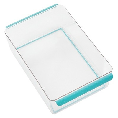 Madesmart Large Bin with Dry Erase Label - Aqua
