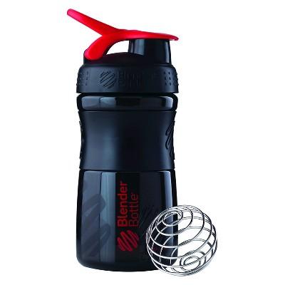 Blender Bottle SportMixer Tritan Grip Bottle 20 oz - Black/Red