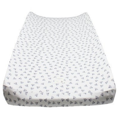 Burt's Bees Baby Honeybee Print Changing Pad Cover - Blueberry