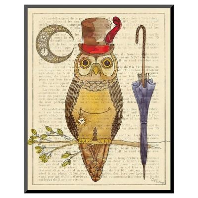 Art.com Steampunk Owl I by Elyse DeNeige - Mounted Print
