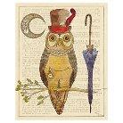 Art.com Steampunk Owl I by Elyse DeNeige - Art Print