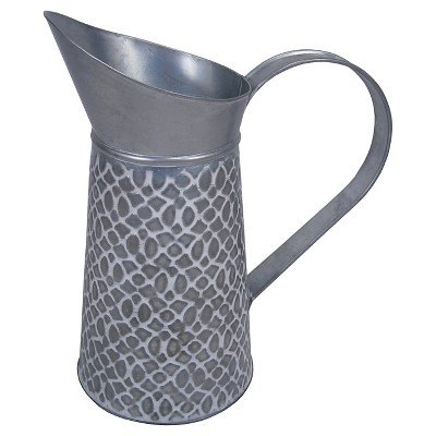 Threshold™ Galvanized Embossed Watering Pitcher