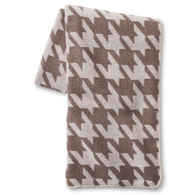 In2Green for Target Recycled Cotton Throw - Milk Houndstooth
