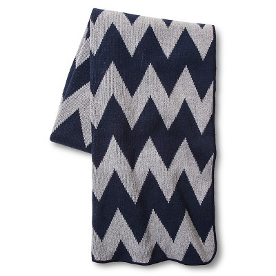 In2Green for Target Recycled Cotton Throw - Marine Zig Zag