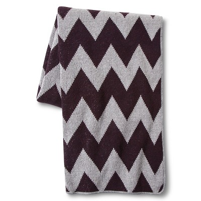 In2Green for Target Recycled Cotton Throw - Merlot Zig Zag