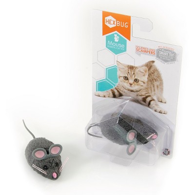 HEXBUG Fur  Mouse Robotic Cat Toy - Gray