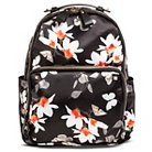 Miztique Women's Floral Print Nylon Backpack Handbag - Black