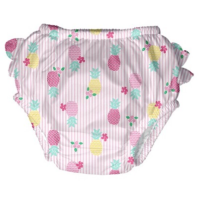 Baby Girls' Pineapple Swim  Diaper - Pink L