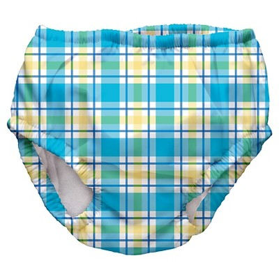Baby Boys' Plaid Swim Diaper - Blue S