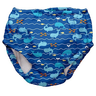 Baby Boys' Whale Swim Diaper - Blue XL