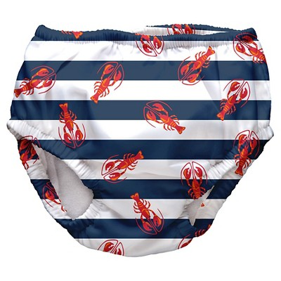 I Play Baby Boys' Lobster Swim Diaper - Navy L