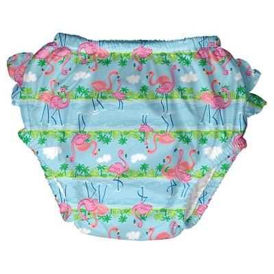 Baby Girls' Flamingo Swim  Diaper - Blue S