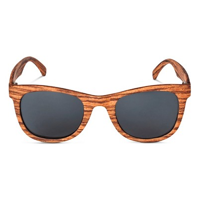 Boys' Rectangle Wood Sunglasses Brown - Circo™