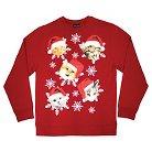 Men's Holiday Fleece Sweatshirt Katmass