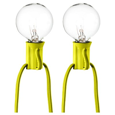 25ct Clear Globe Lights Citrus String - Room Essentials™