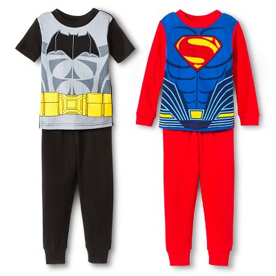 Batman Toddler Boys' 4-Piece Pajama Set - Black 12M