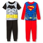 Batman Toddler Boys' 4-Piece Pajama Set - Black