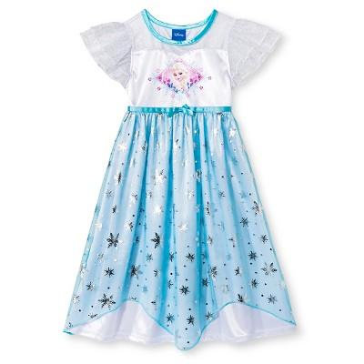 Disney Princess Elsa Toddler Girls' Nightgown Blue 12M