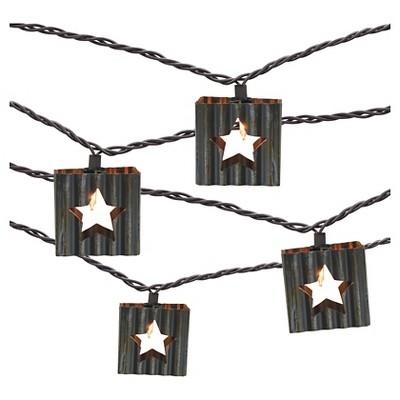 10 count Decorative String Lights - Corrugated Metal Star - Threshold™