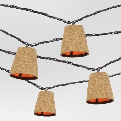 10 count Decorative String Lights - Cone Cover in Cork - Threshold™