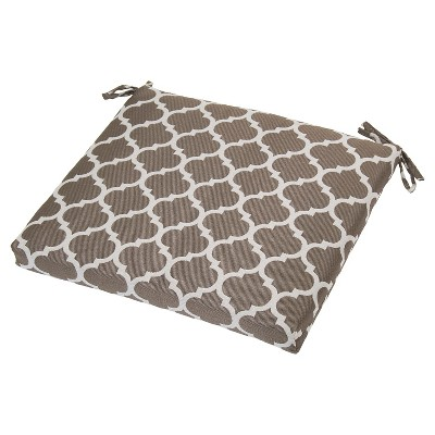 Outdoor Seat Cushion - Taupe Ogee - Threshold™