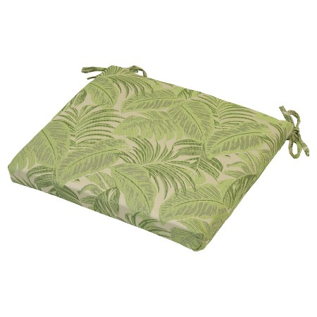 Product description page outdoor seat cushion tropical leaves