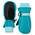 Girls' C9 Champion® Fleece Lined Mitten - Turquoise One Size