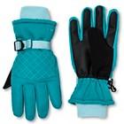 Girls' C9 Champion® Fleece Lined Ski Gloves - Turquoise
