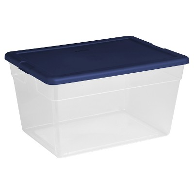 56 Qt Plastic Storage Tubs Blue Cover - Room Essentials™