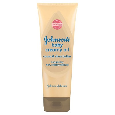 Johnson's® Baby Creamy Oil Shea & Cocoa Butter - 8 Oz